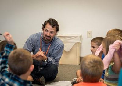 Tim with Kids