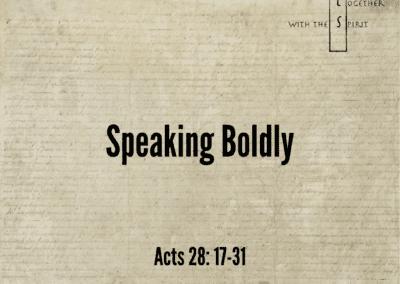 Speaking Boldly